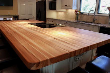 Кухонная столешница из массива дерева дуба