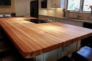 Кухонна стільниця з масиву дерева дуба