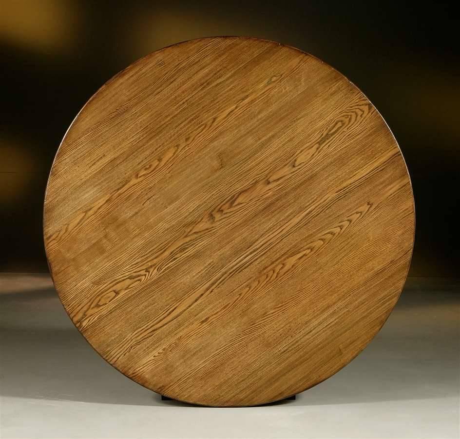 Столешница из массива дерева круглая