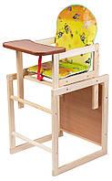 Деревянный детский стульчик трансформер,Губка Боб