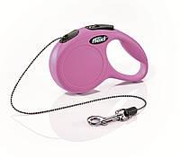 FLEXI (Флекси) NEW CLASSIC CAT XS 3м/8кг, трос -поводок-рулетка для кошек и собак мелких пород (4 цвета)