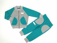 Костюм спортивный для мальчиков (кофта на молнии, брюки с манжетами) Соня 7355   1- 2 года  (80-92)