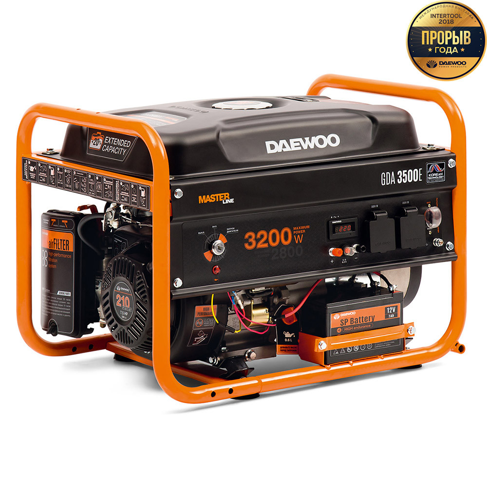Генератор бензиновий Daewoo GDA 3500E (3,2 кВт)