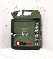 Канистра бар 10л с маркой авто Мерседес / Mercedes Подарок водителю, мужчине