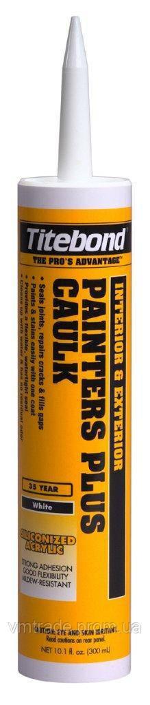 Герметик универсальный, акриловый с силиконом,  (Titebond Painters Plus Caulk) 300мл, цветной