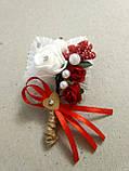 Бутоньерка свадебная Rose. Цвет красный., фото 2
