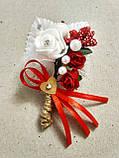 Бутоньерка свадебная Rose. Цвет красный., фото 4