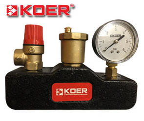 "Группа безопасности котла Koer 1"" KR.105PT в теплоизоляционном кожухе"