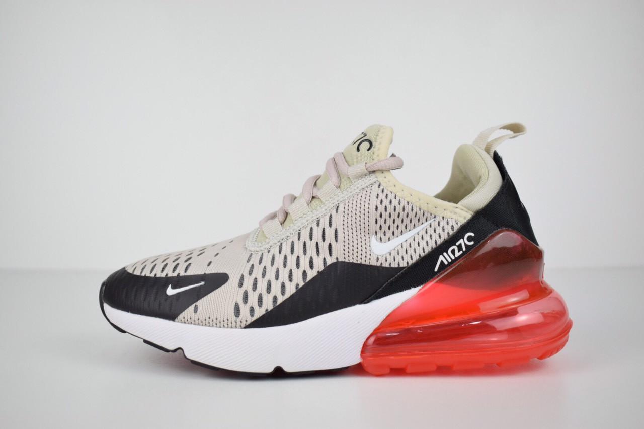 fe1ca062c1c6e7 Жіночі кросівки Nike Air Max 270, сірі з червоним - BEST-CROSS в Хмельницком