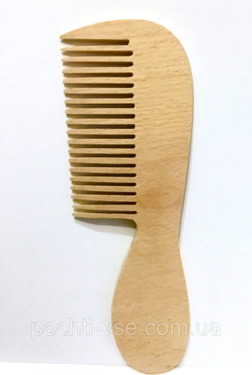 Расческа деревянная с ручкой,172мм