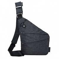 Кроссбоди, сумка через плечо, crossbody, сумка слинг, цвет - серый, унисекс
