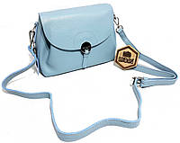 604135c6aeac Женская кожаная сумка Нежно-голубого цвета яркая и стильная через плечо\на  плечо