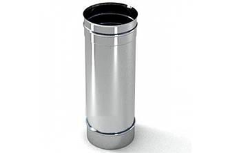 Труба дымоходная из нержавеющей стали L=0,3м диам.