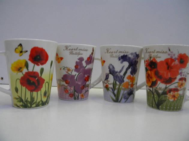 Чашка 375мл -4 дек Цветы 2626, фото 2