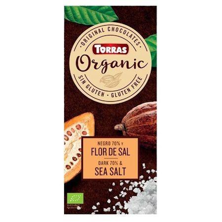 """Шоколад """"70% какао с морской солью"""" Torras Organic, 100 г"""