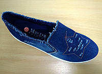 Мокасины джинсовые женские Звезда, фото 1