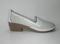 Женские кожаные летние туфли ТМ Allshoes