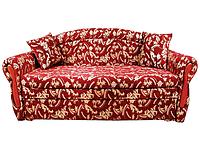 Тахта Верона 3 категория обивки на ППУ, с деревянными элементами, двуспальное