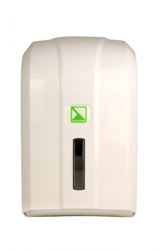Диспенсер для туалетной бумаги Z-типа (белый) + старт упаковка бумаги Z-типа