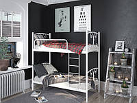 Металлическая двухъярусная кровать Жасмин