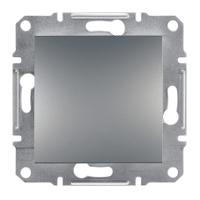 Выключатель одноклавишный Asfora сталь EPH0100162