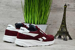 Женские кроссовки замшевые Reebok красные топ реплика, фото 2