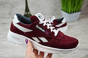 Женские кроссовки замшевые Reebok красные топ реплика, фото 3