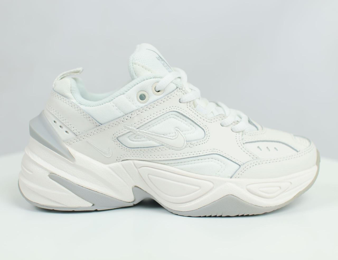 Кроссовки женские Nike кожаные белые топ реплика