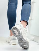 Кроссовки женские Nike кожаные белые топ реплика, фото 3