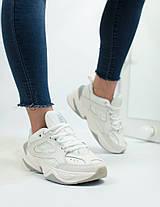 Кроссовки женские Nike кожаные белые топ реплика, фото 2