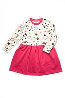Стильное платье для девочки, на рост - 104,110,116,122,128,134см. (арт:03-00819-0)