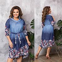 d08e31cbbfb Женское платье с удлиненной спинкой Размер 48 50 52 54 56 58 В наличии 2  цвета