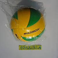 Мяч волейбольный MIKASA MVA200CEV оригинал желто-зелёный dec379cb4afcc