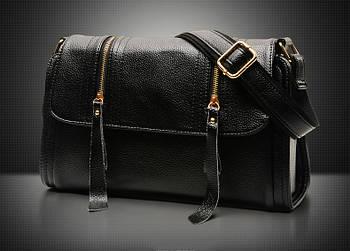 Модная женская сумка. Стильная сумка женская через плечо (черная)