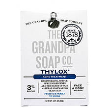 "Брусковое мыло от акне Grandpa's, Thylox ""Acne Treatment"" для лица и тела (92 г)"