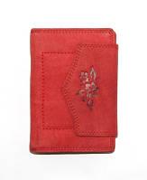 Красный кошелек женский натуральная кожа