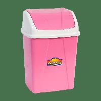 Ведро для мусора с поворотной крышкой 8,25 л розовое