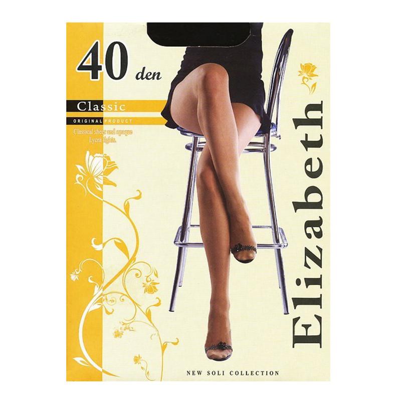Женские колготки Elizabeth оптом классические, капроновые, матовые с лайкрой  40 den 00114-1 бежевый, 4