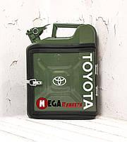Канистра бар 10л с маркой авто Тойота / Toyota Подарок водителю, мужчине