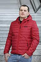 Красная мужская куртка демисезонная большого размера 56