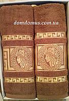 """Подарочный набор полотенец """"Greek"""" (банное+лицевое) TWO DOLPHINS 1628"""