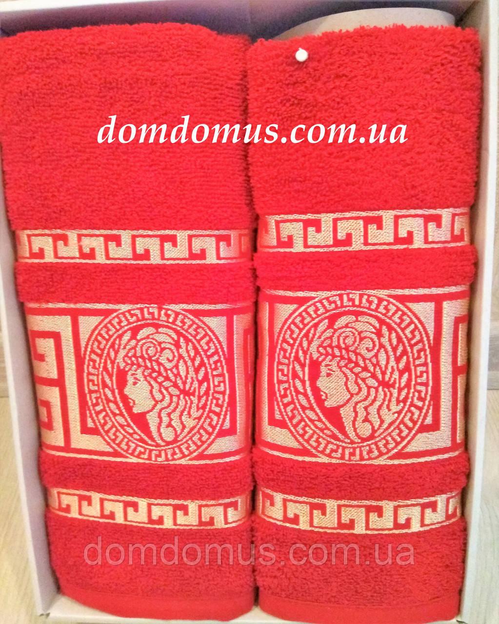 """Подарочный набор полотенец """"Greek"""" (банное+лицевое) TWO DOLPHINS 1629"""
