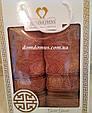 """Подарунковий набір рушників """"Gold Greek"""" (банне+лицьове) TWO DOLPHINS, Туреччина, фото 2"""