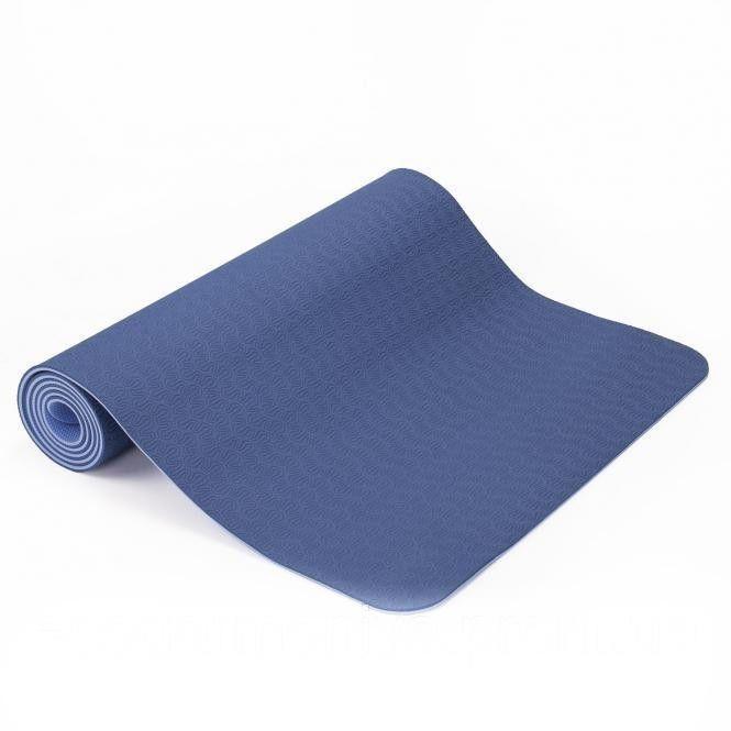 Коврик для йоги, фитнеса и аэробики 173х61х0,6 см, двухслойный