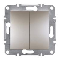 Выключатель двухклавишный Asfora бронза EPH0300169