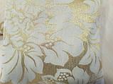 Комплект подушок Золото завитки люрекс 2шт, фото 3