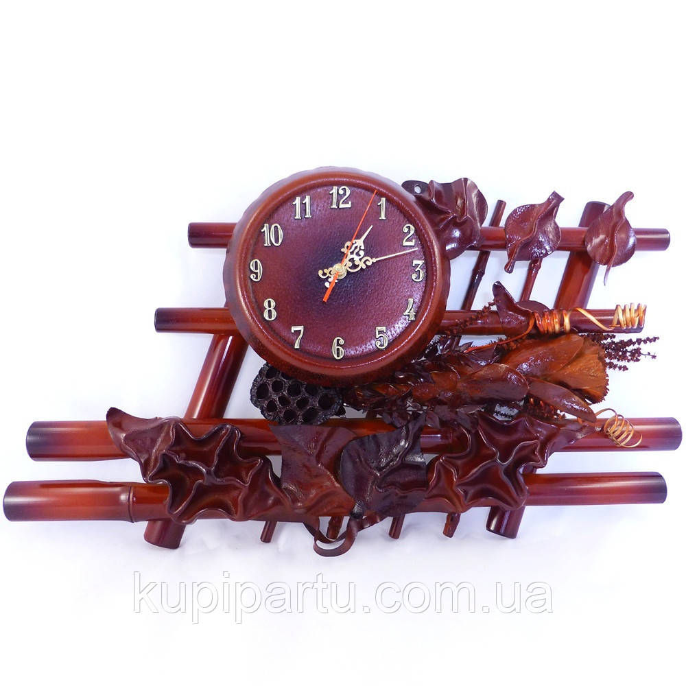 Часы из натуральной кожи и бамбука-Иллюзия ЧК21