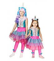 Детский карнавальный костюм КУКОЛКА ЛОЛ ЕДИНОРОГ LOL для девочки 3,4,5,6,7,8,9 ЕДИНОРОЖКА ЛОЛ
