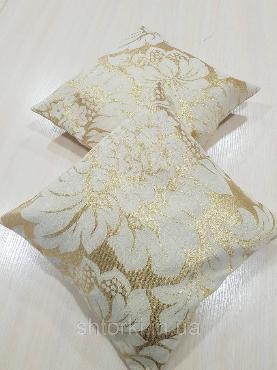 Комплект подушок Золото завитки люрекс 2шт