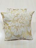 Комплект подушок Золото завитки люрекс 2шт, фото 4